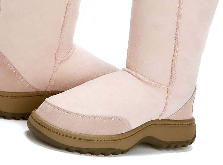 Adults Pink Ugg Boots with Outdoor Sole