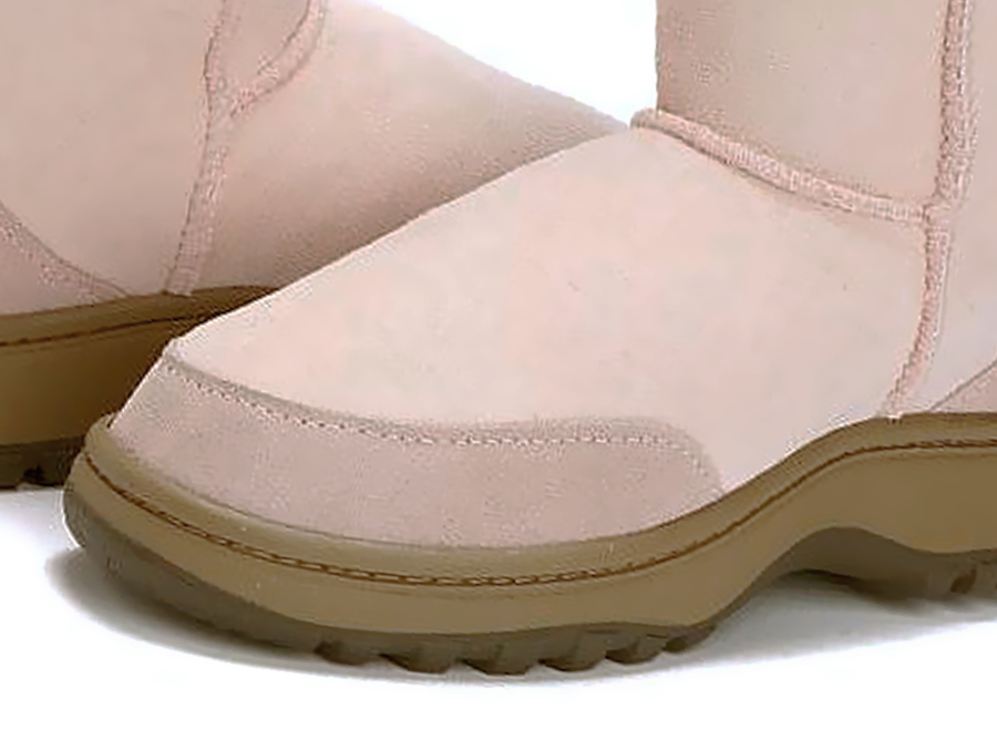 Adults Pink Classic Ultra Short Ugg Boots Outdoor Sole Detail