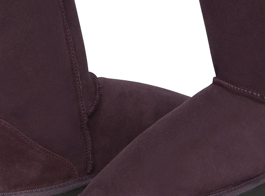 Adults Raisin Short Deluxe Ugg Boot Detail