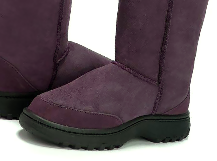 Adults Raisin Ugg Boots with Outdoor Sole