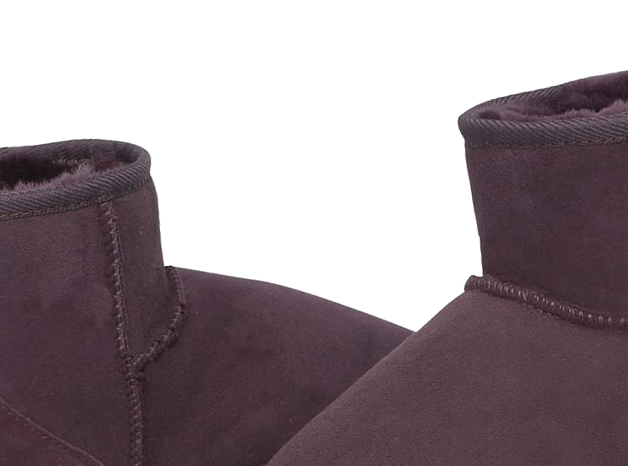 Adults Raisin Classic Ultra Short Ugg Boots Detail