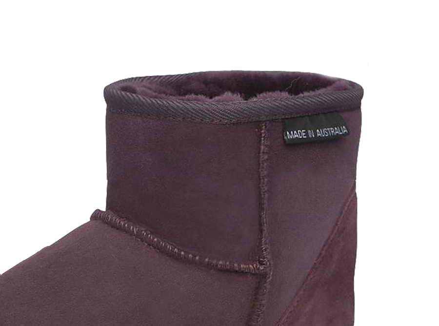 Adults Raisin Classic Ultra Short Ugg Boots Cuff