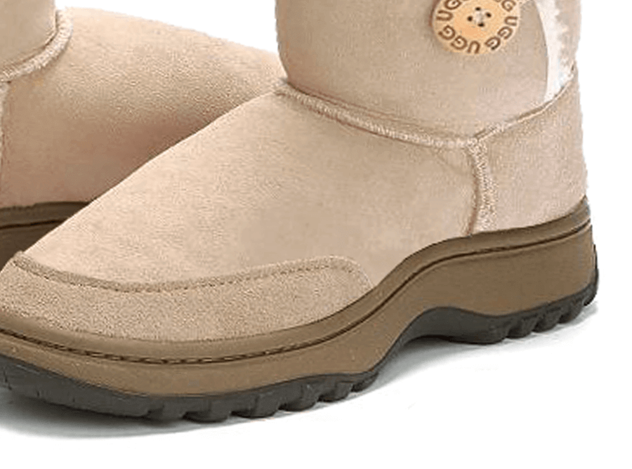 Adults Sand Bella Button Ugg Boot Outdoor Sole Detail