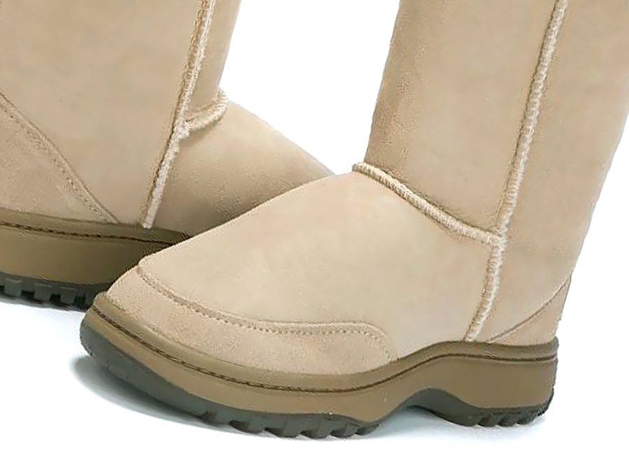 Adults Sand Ugg Boots with Outdoor Sole