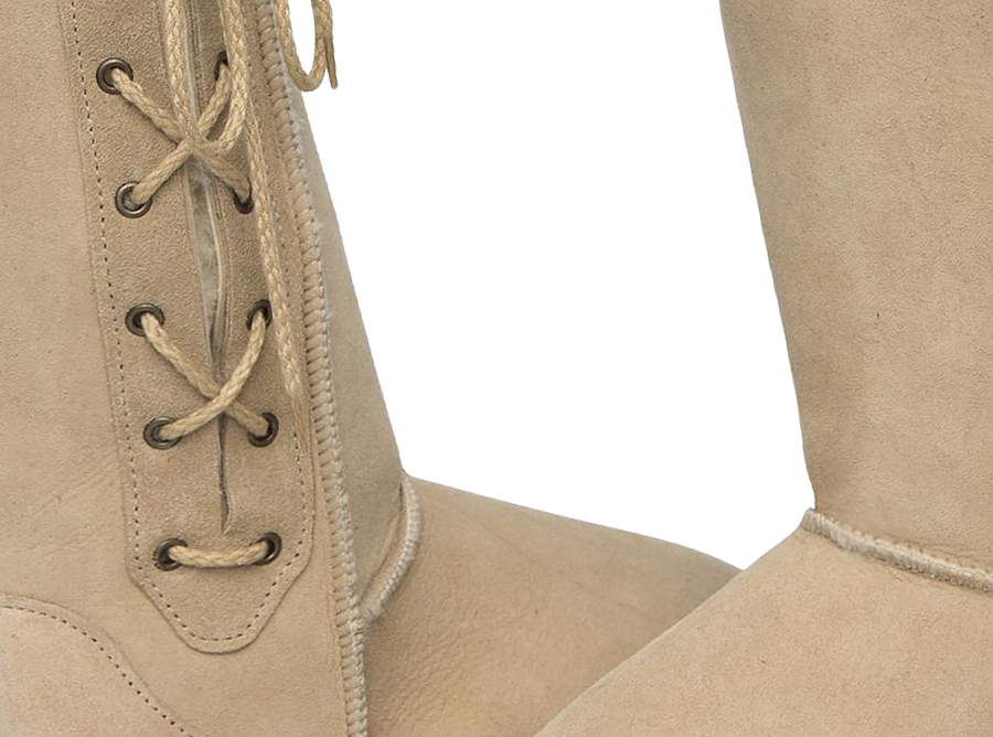 Adults Sand Lace Up Tall Ugg Boot Detail