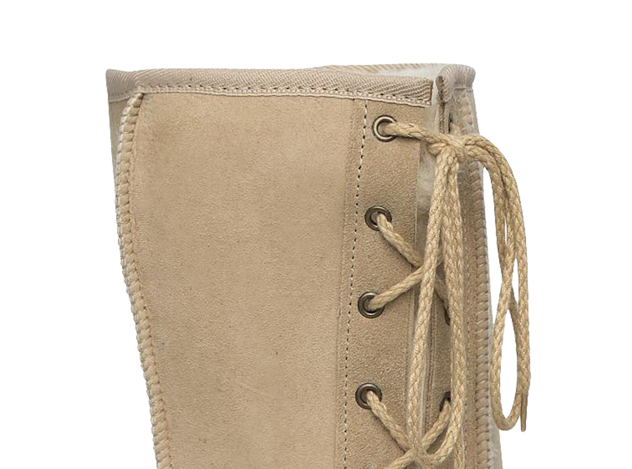 Adults Sand Lace Up Tall Ugg Boot Cuff