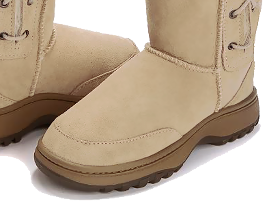 Adults Sand Lace Up Tall Ugg Boot Outdoor Sole Detail