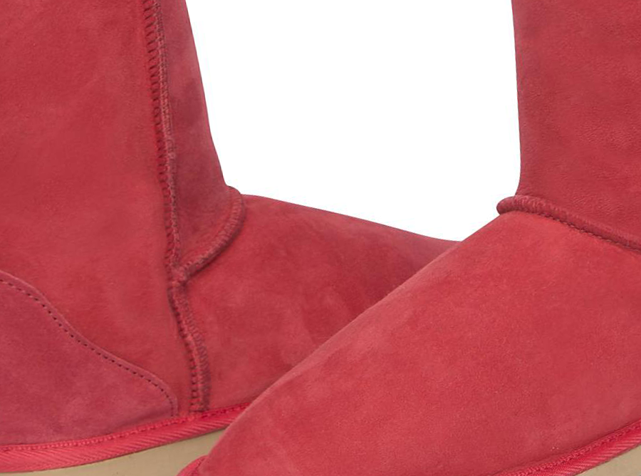 Adults Scarlet Classic Short Ugg Boots Detail