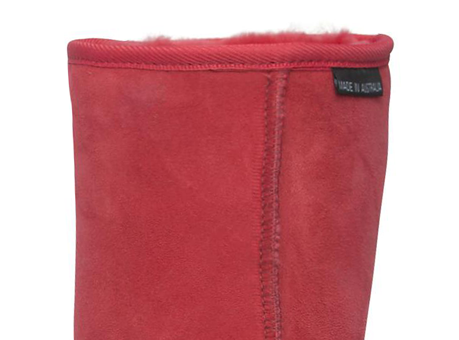 Adults Scarlet Short Deluxe Ugg Boot Cuff