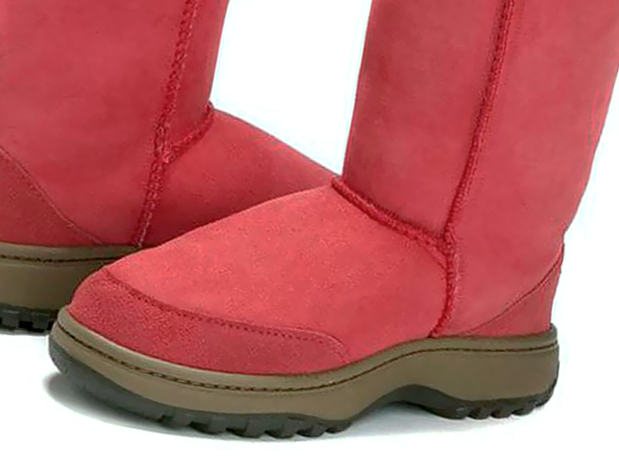 Adults Scarlet Ugg Boots with Outdoor Sole