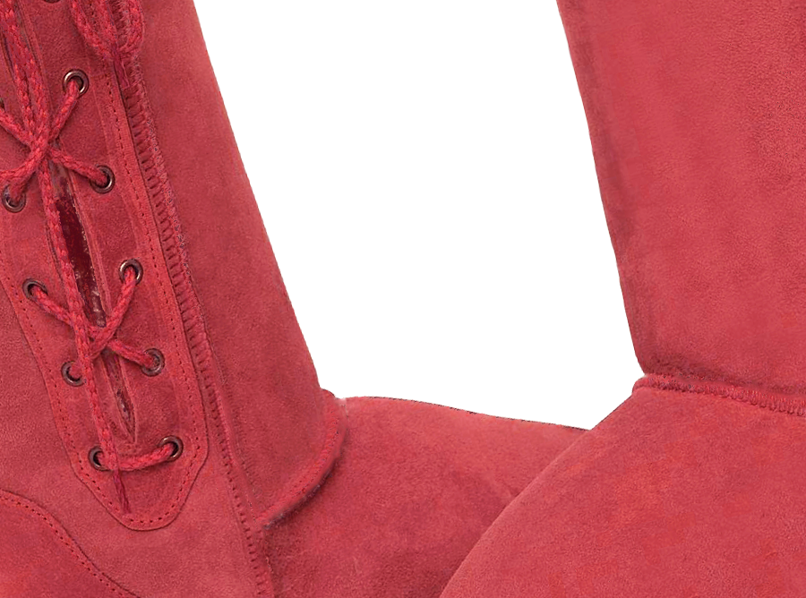 Adults Scarlet Lace Up Tall Ugg Boot Detail