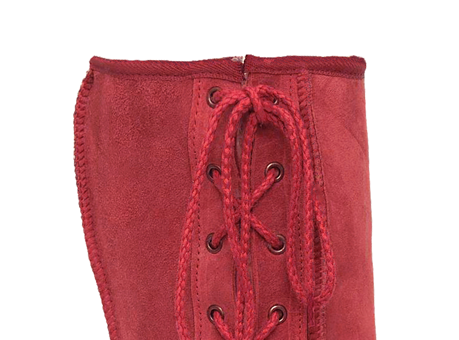 Adults Scarlet Lace Up Tall Ugg Boot Cuff