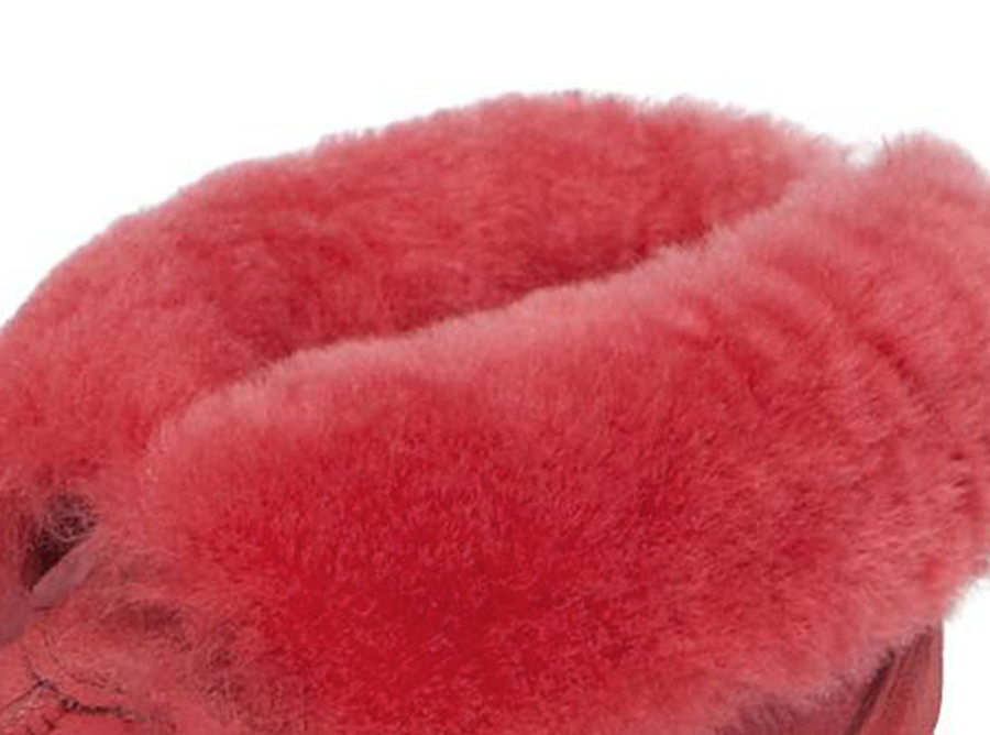 Adults Scarlet Classic Ugg Style Slipper Cuff