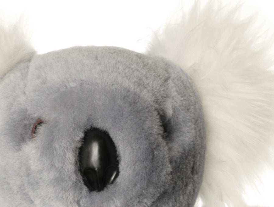 Kids Silver Fox Sheepskin Koala Bear Face Detail
