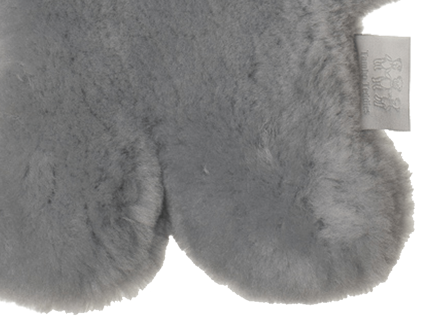 Kids Silver Fox Sheepskin Flat Bear Feet Detail