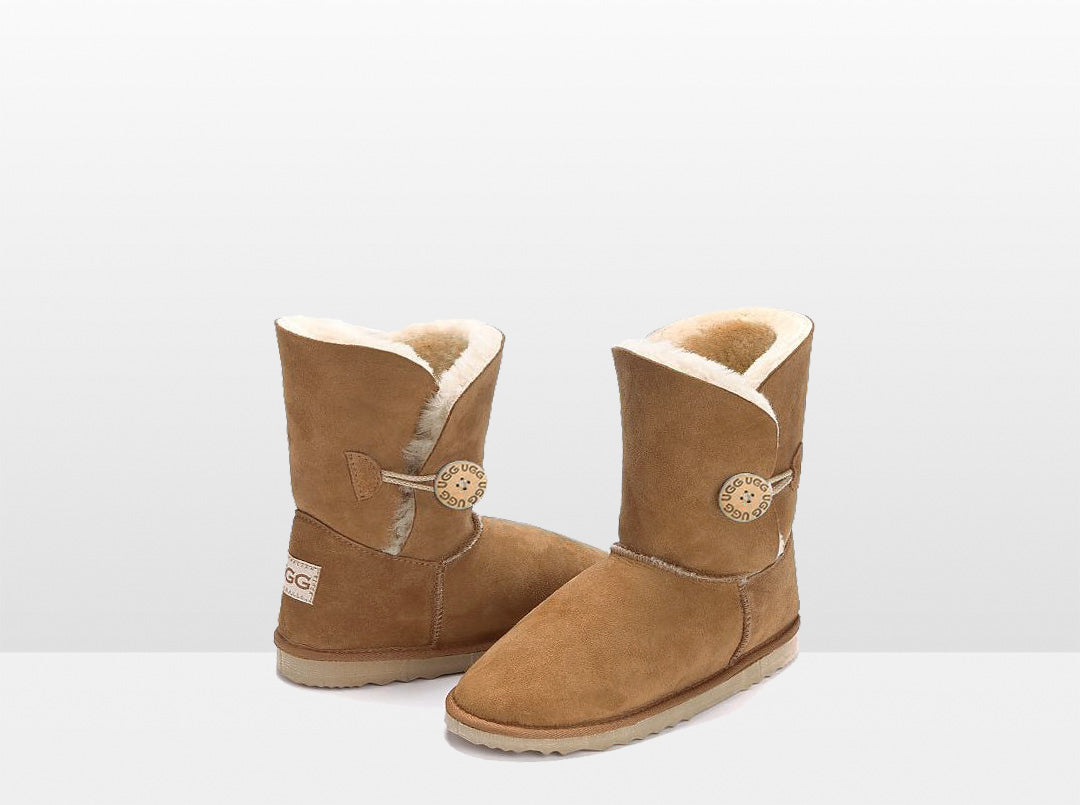 Adults Chestnut Bella Button Ugg Boot