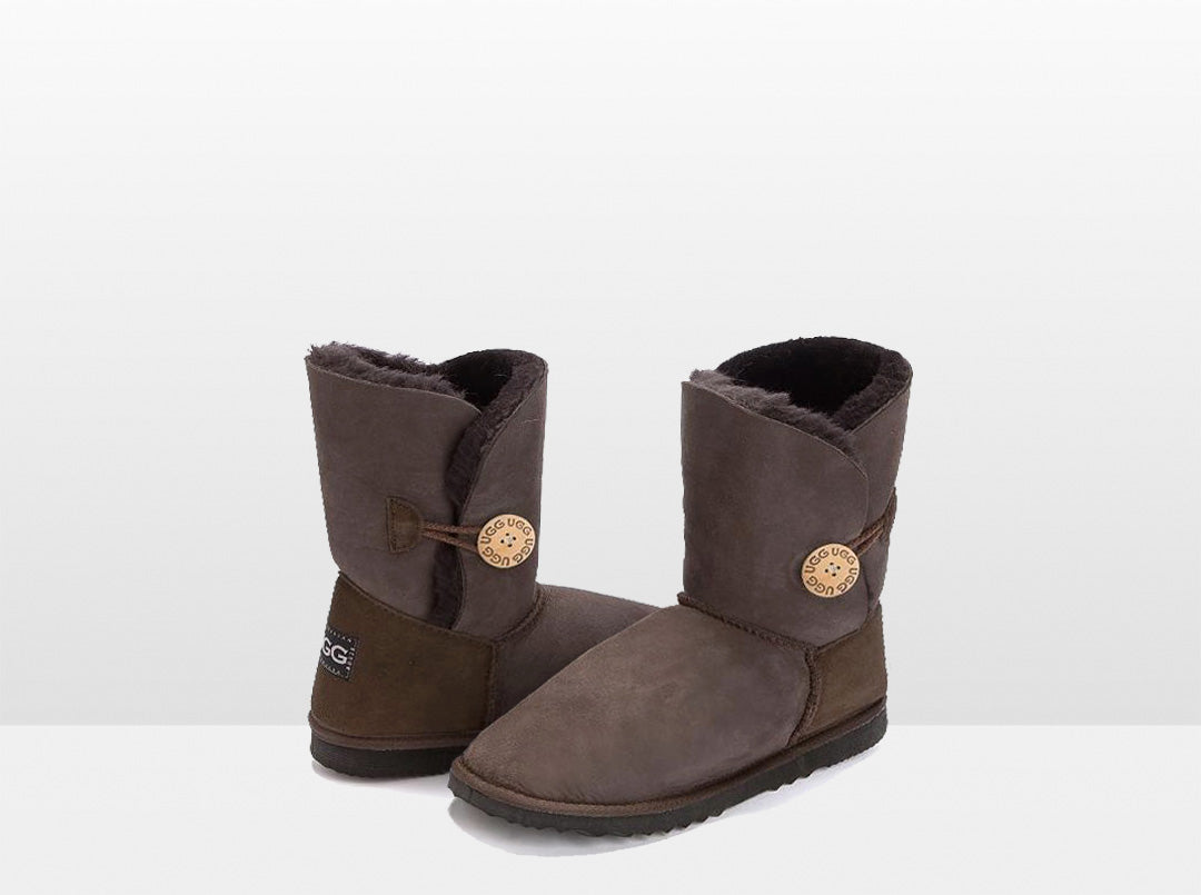 Adults Chocolate Bella Button Ugg Boot