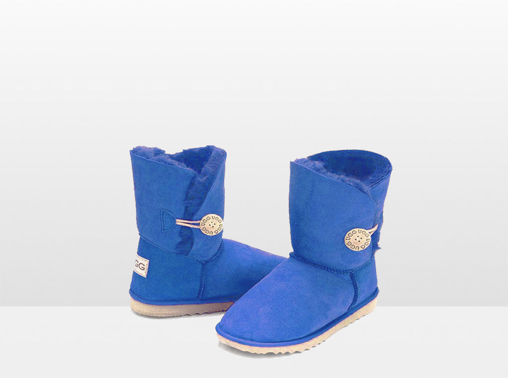Adults Electric Blue Bella Button Ugg Boot