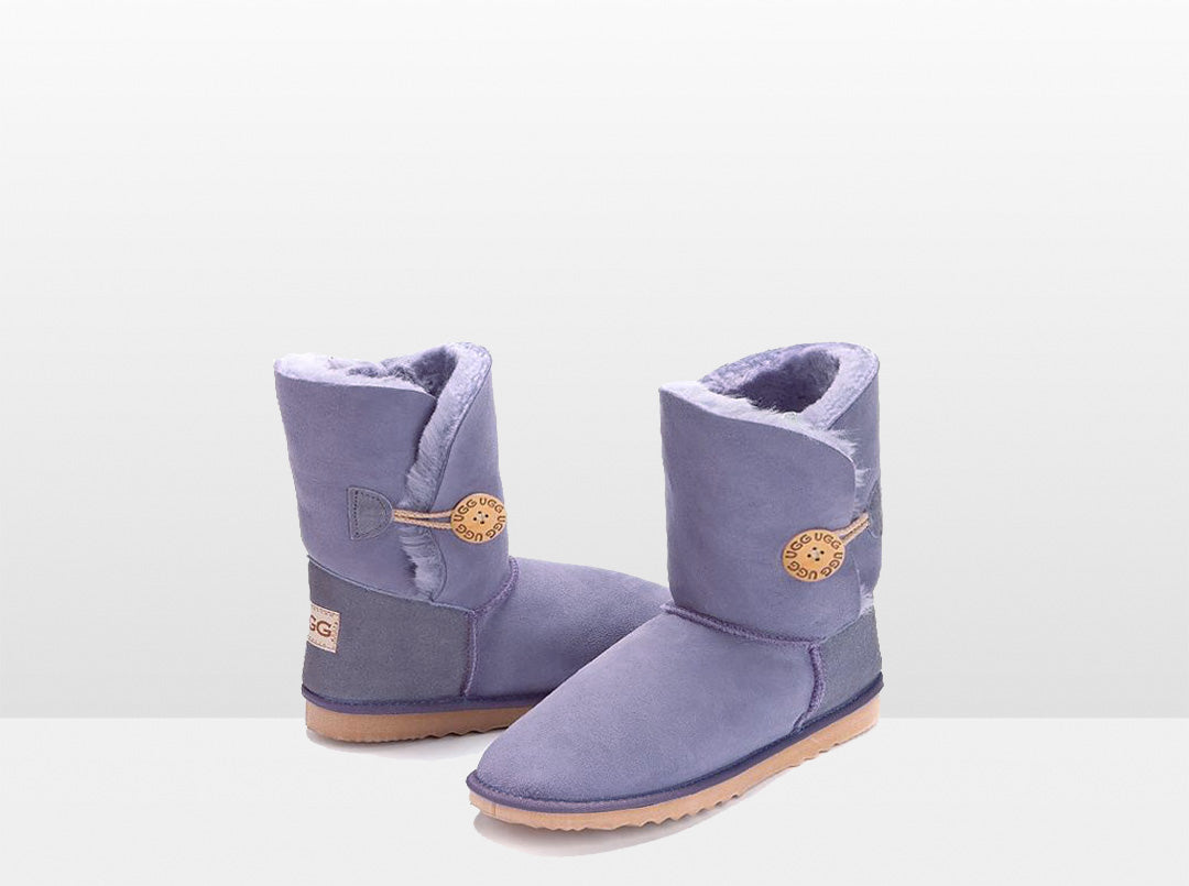 Adults Lilac Bella Button Ugg Boot