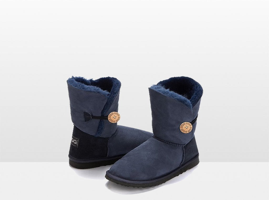 Adults Navy Bella Button Ugg Boot