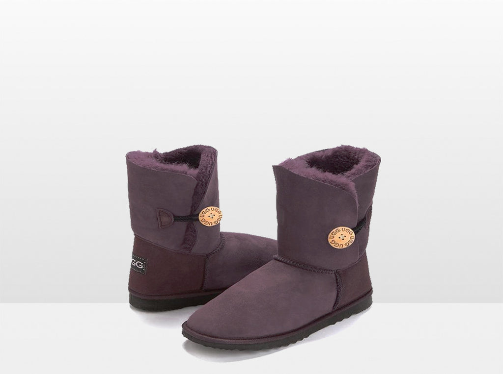 Adults Raisin Bella Button Ugg Boot