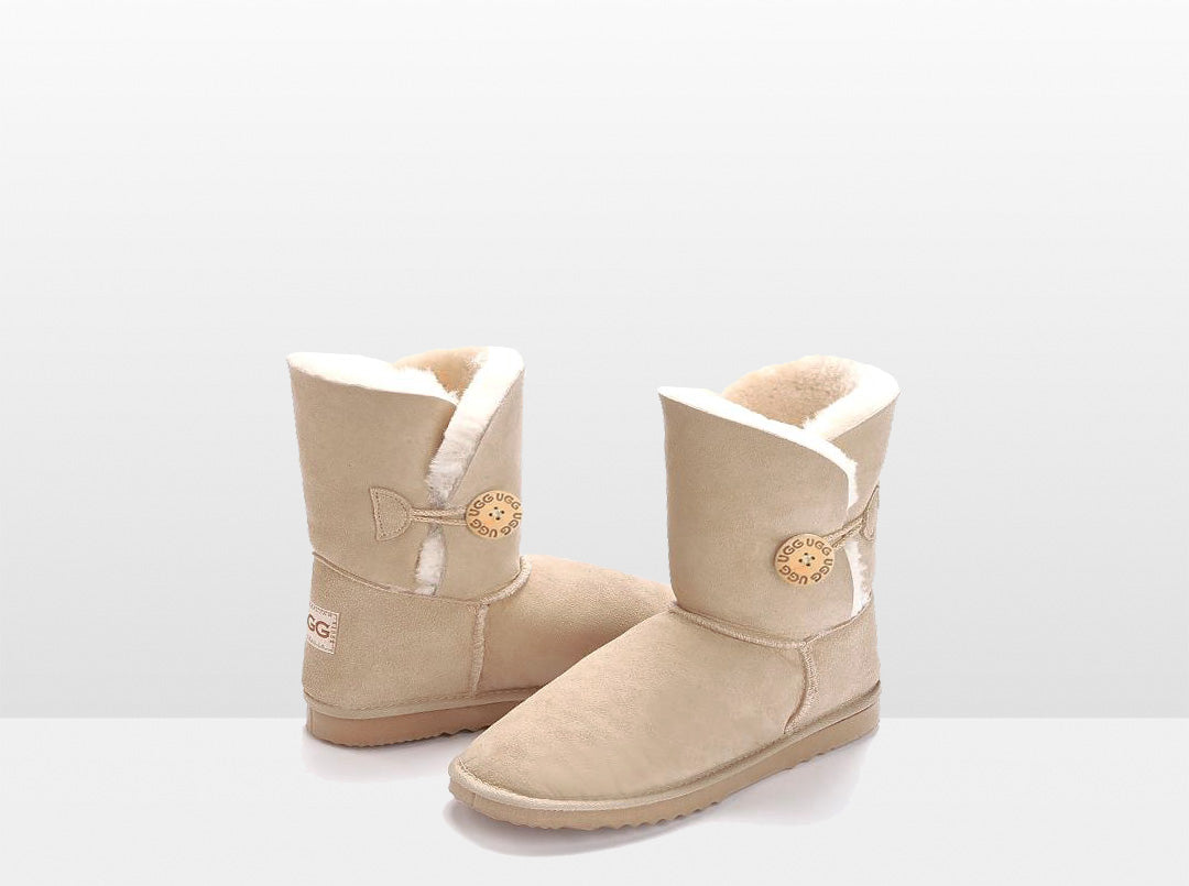 Adults Sand Bella Button Ugg Boot