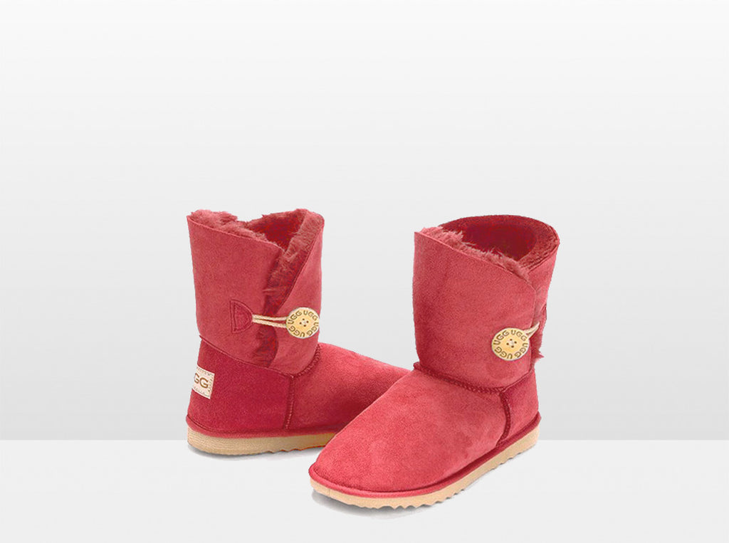 Adults Scarlet Bella Button Ugg Boot