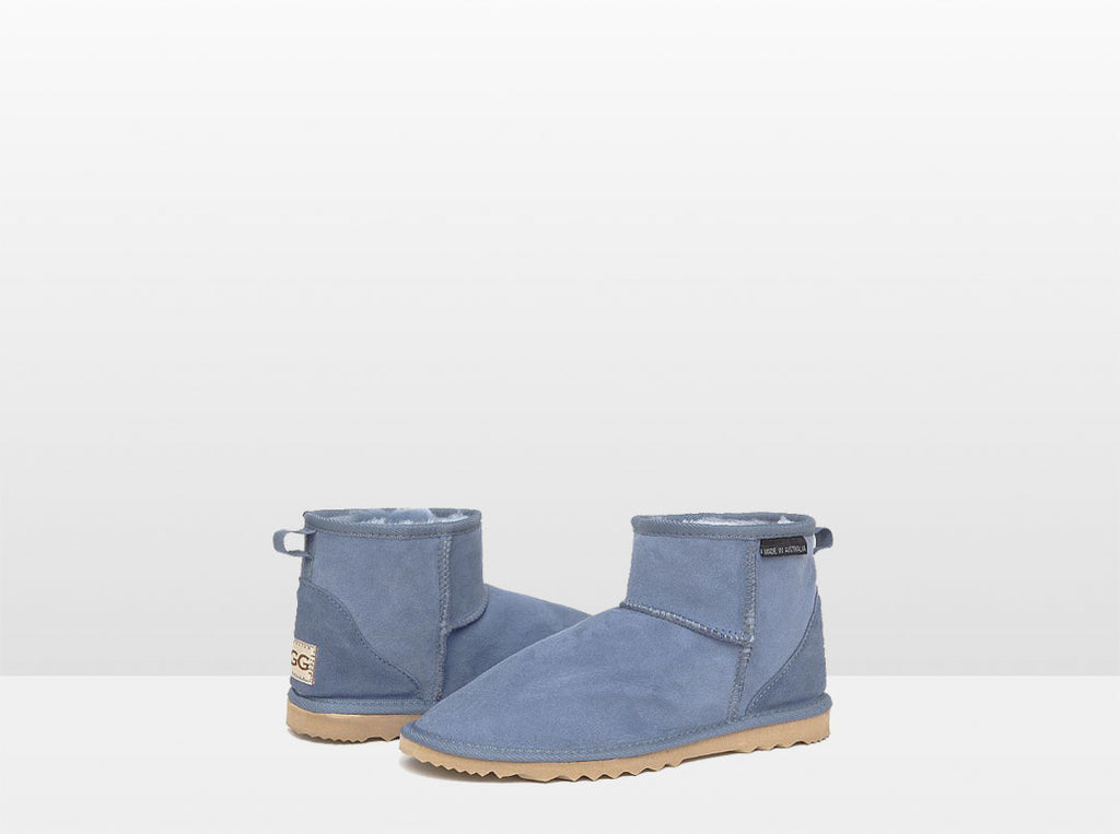 Adults Denim Blue Classic Mini Ugg Boots