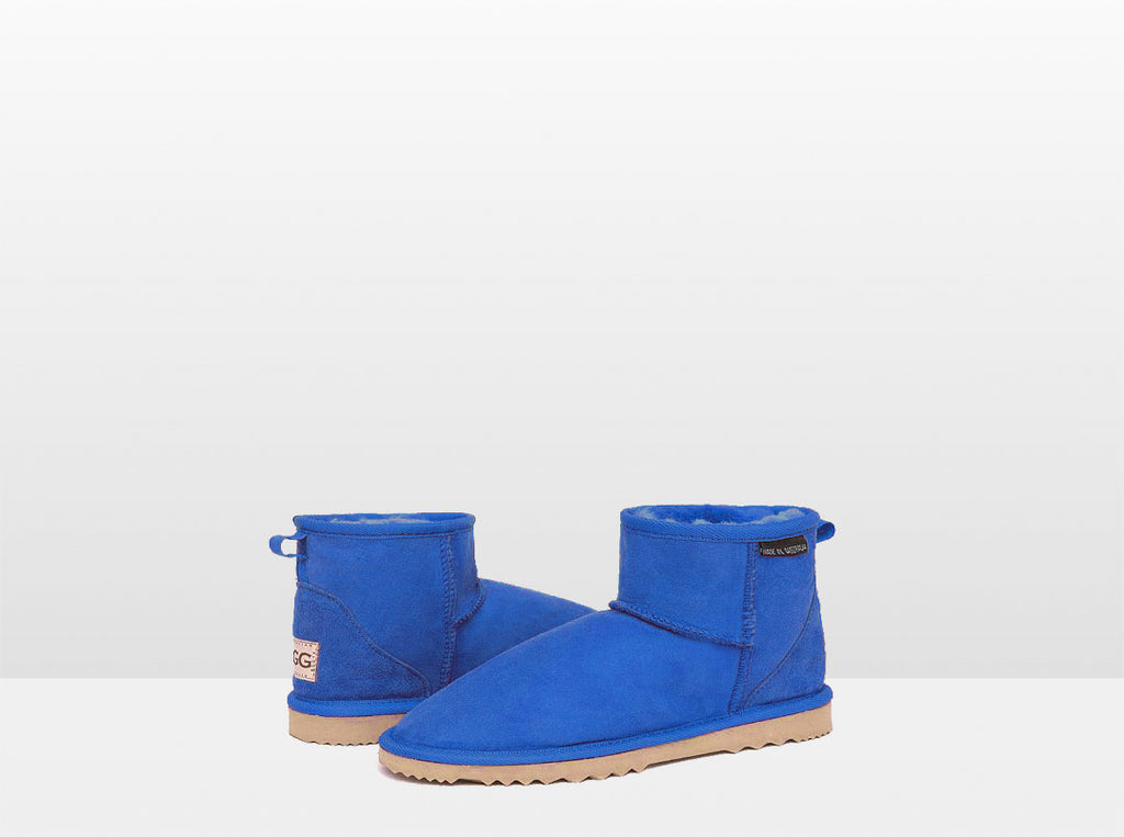 Adults Electric Blue Classic Mini Ugg Boots