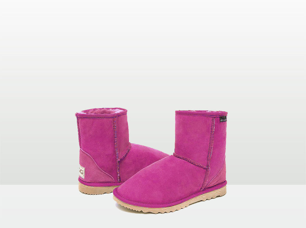 Adults Bright Rose Classic Short Ugg Boots