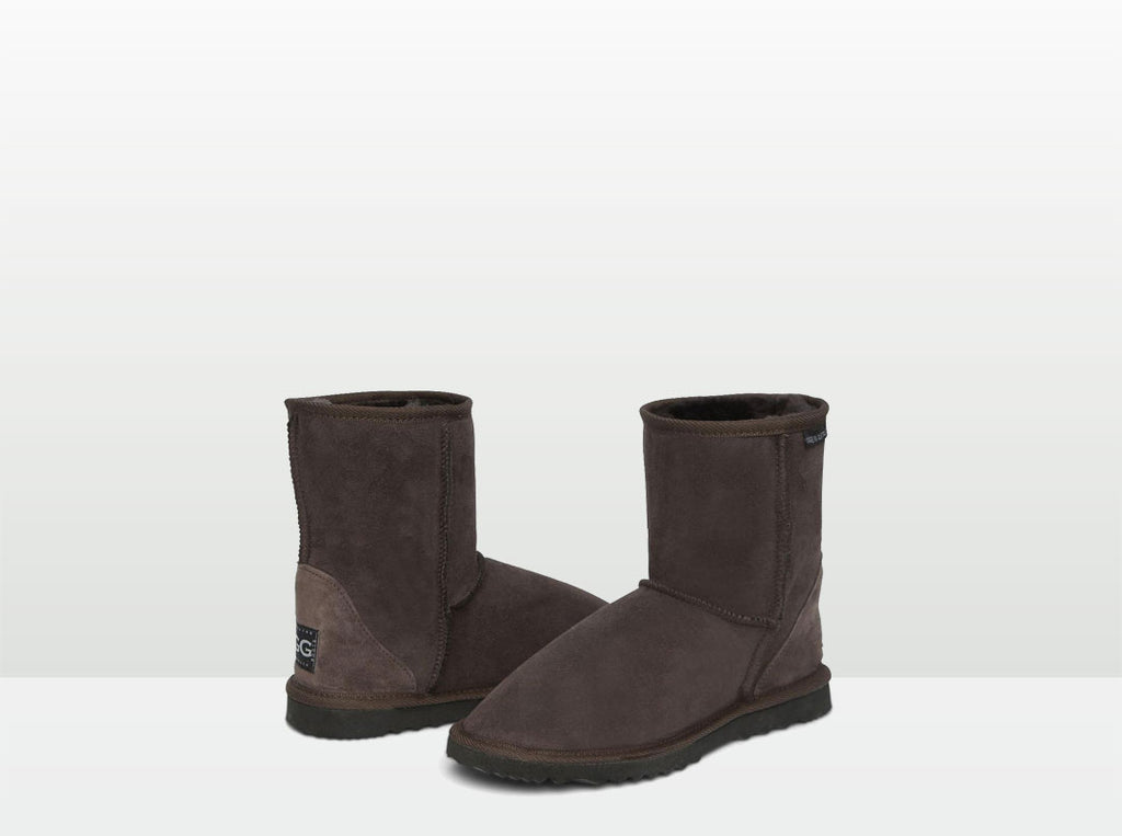 Adults Chocolate Classic Short Ugg Boots