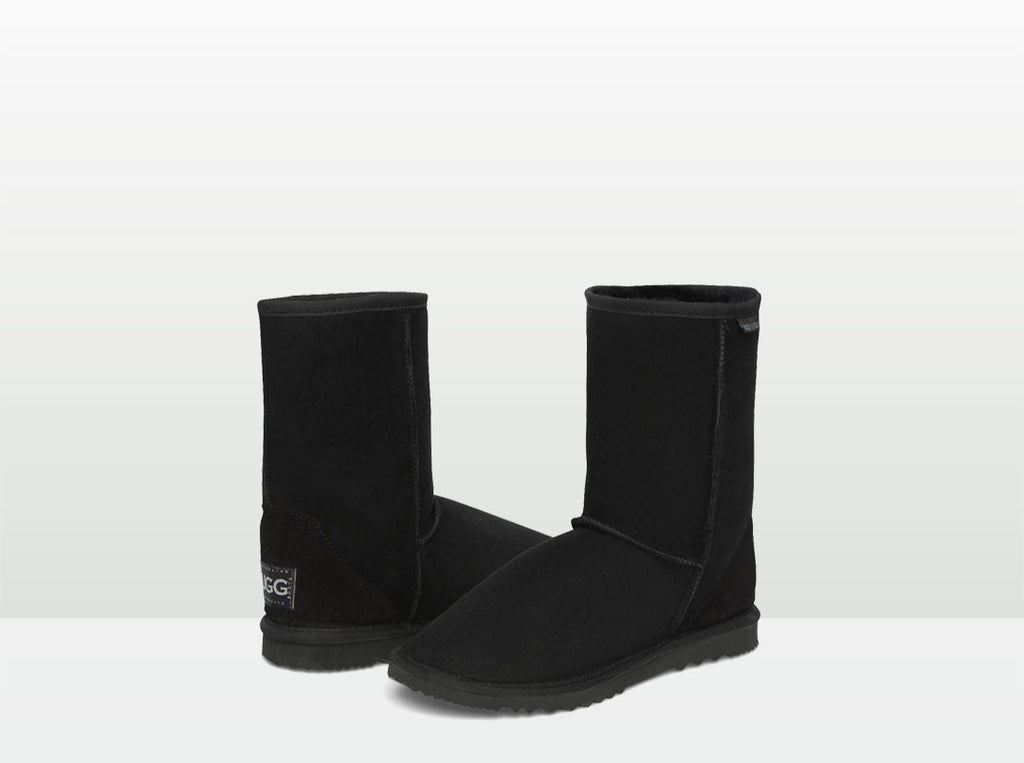 Adults Black Short Deluxe Ugg Boots