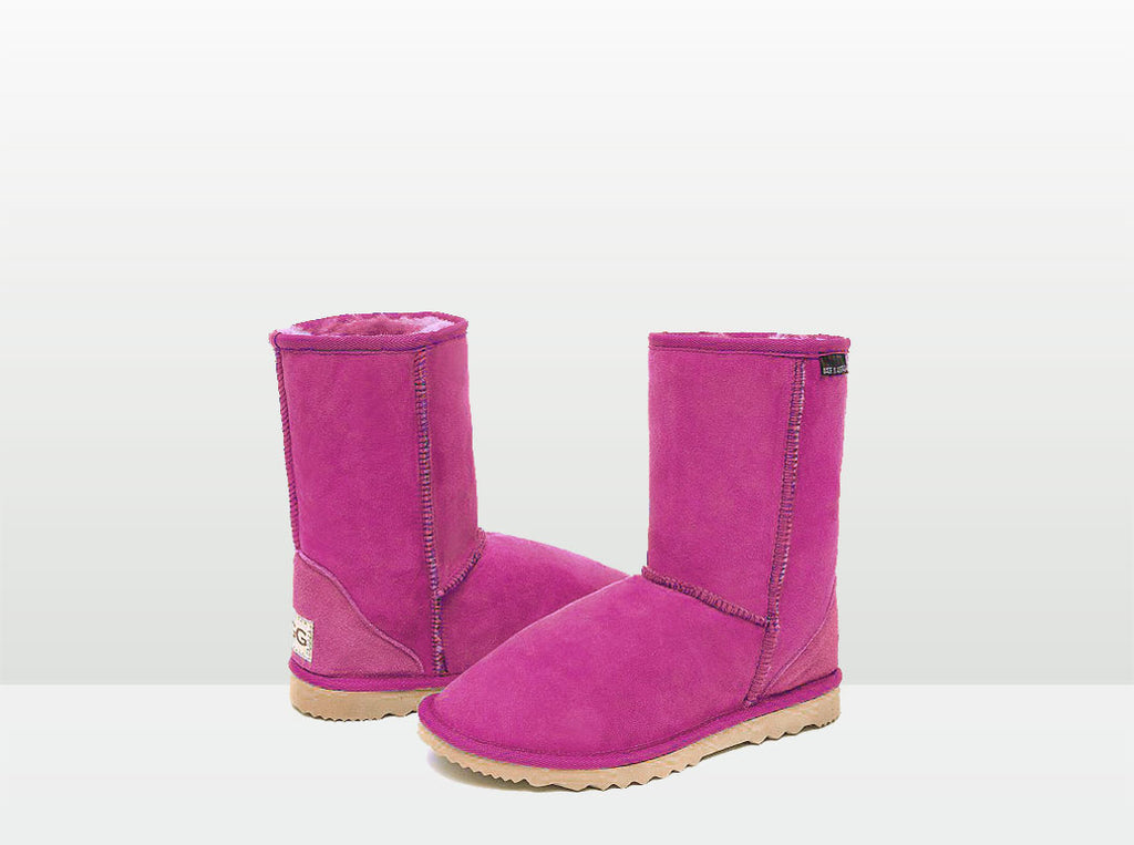 Adults Bright Rose Short Deluxe Ugg Boots