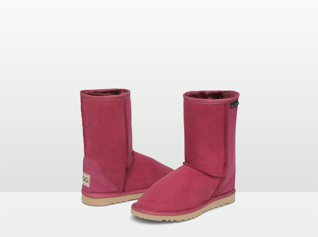 Adults Burgundy Short Deluxe Ugg Boots