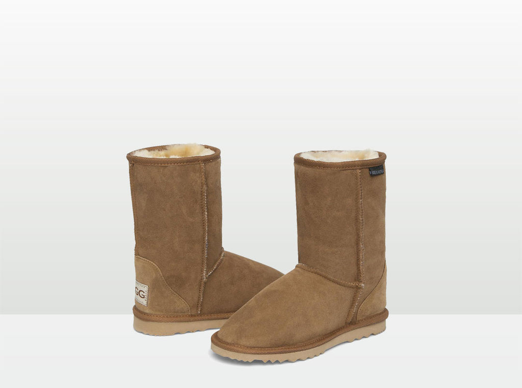 Adults Chestnut Short Deluxe Ugg Boots