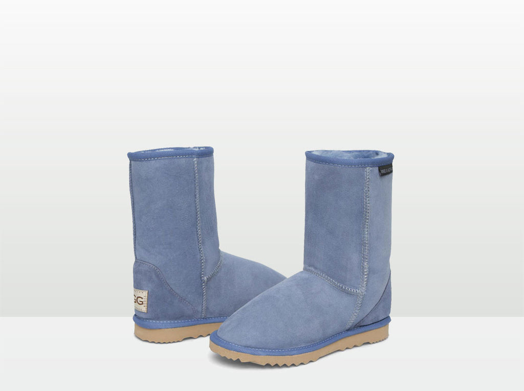 Adults Denim Blue Short Deluxe Ugg Boots