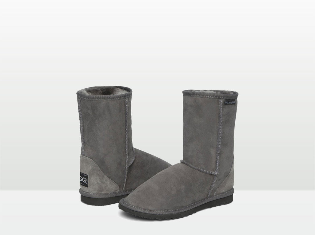 Adults Grey Short Deluxe Ugg Boots