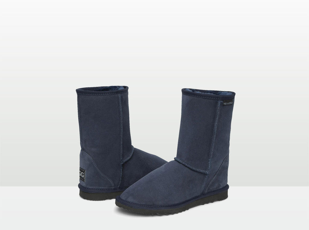 Adults Navy Short Deluxe Ugg Boots