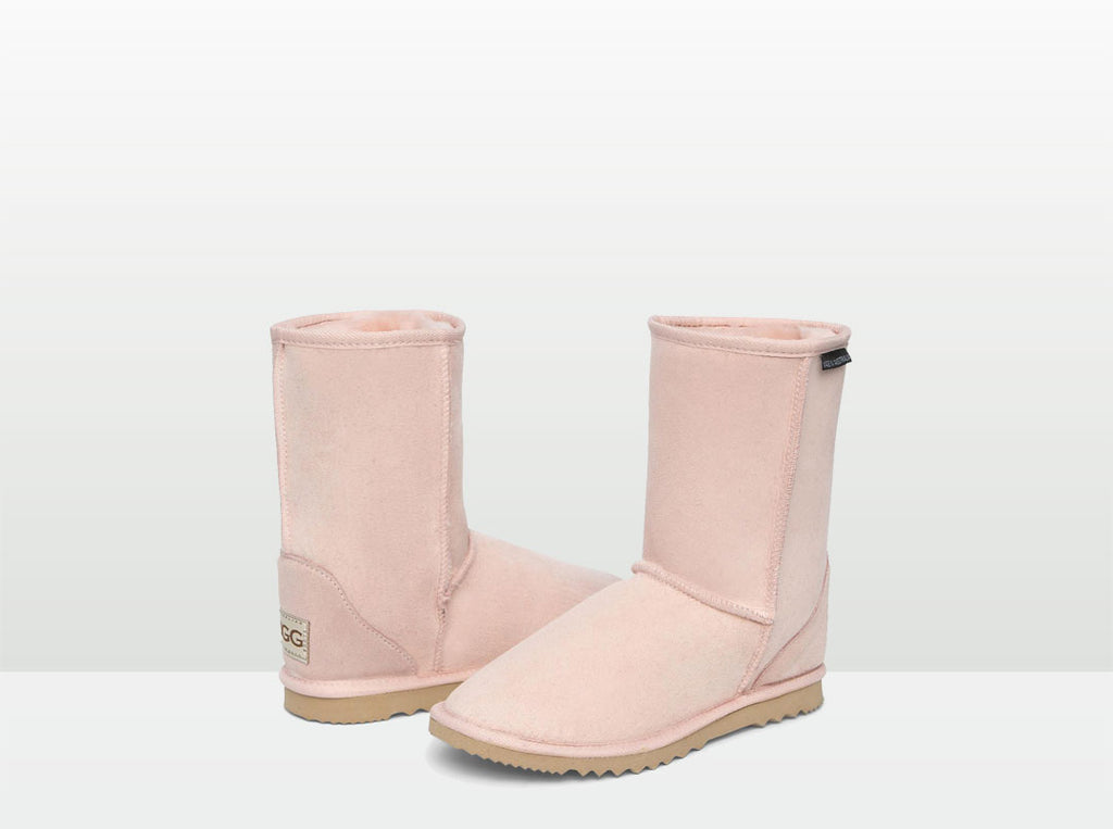 Adults Pink Short Deluxe Ugg Boots
