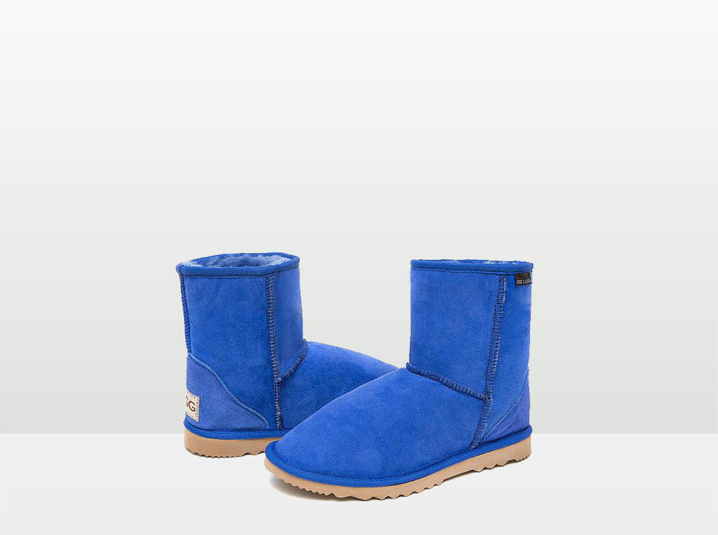 Adults Electric Blue Classic Short Ugg Boots