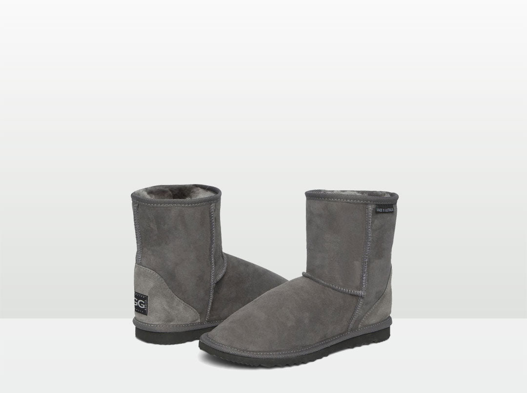Adults Grey Classic Short Ugg Boots