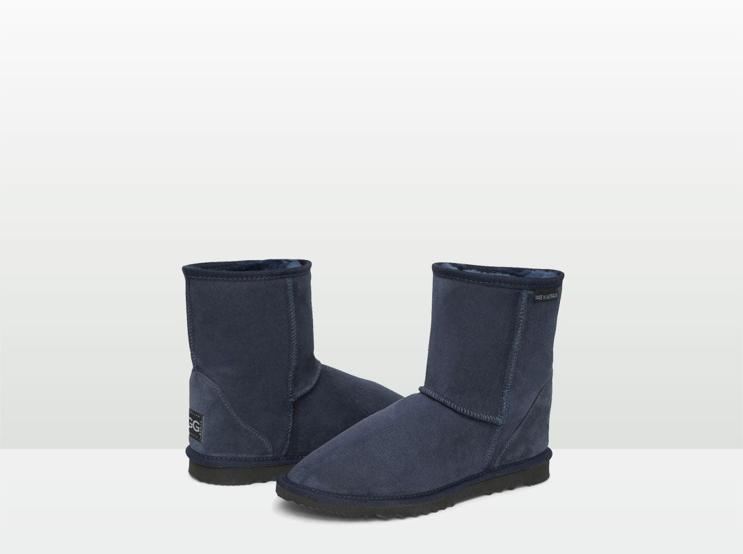 Adults Navy Blue Classic Short Ugg Boots