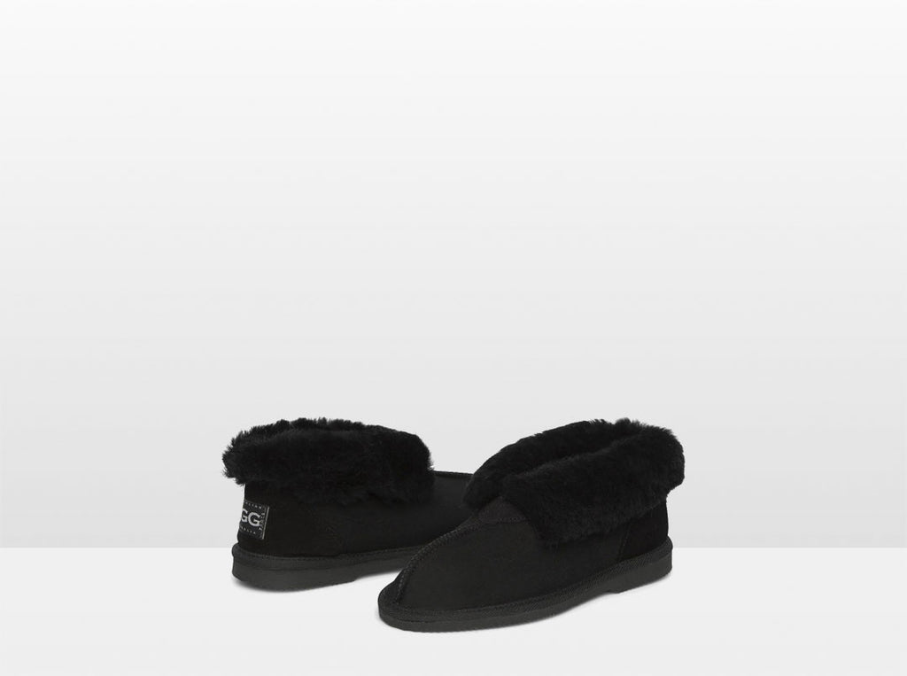Adults Black Classic Ugg Style Slippers