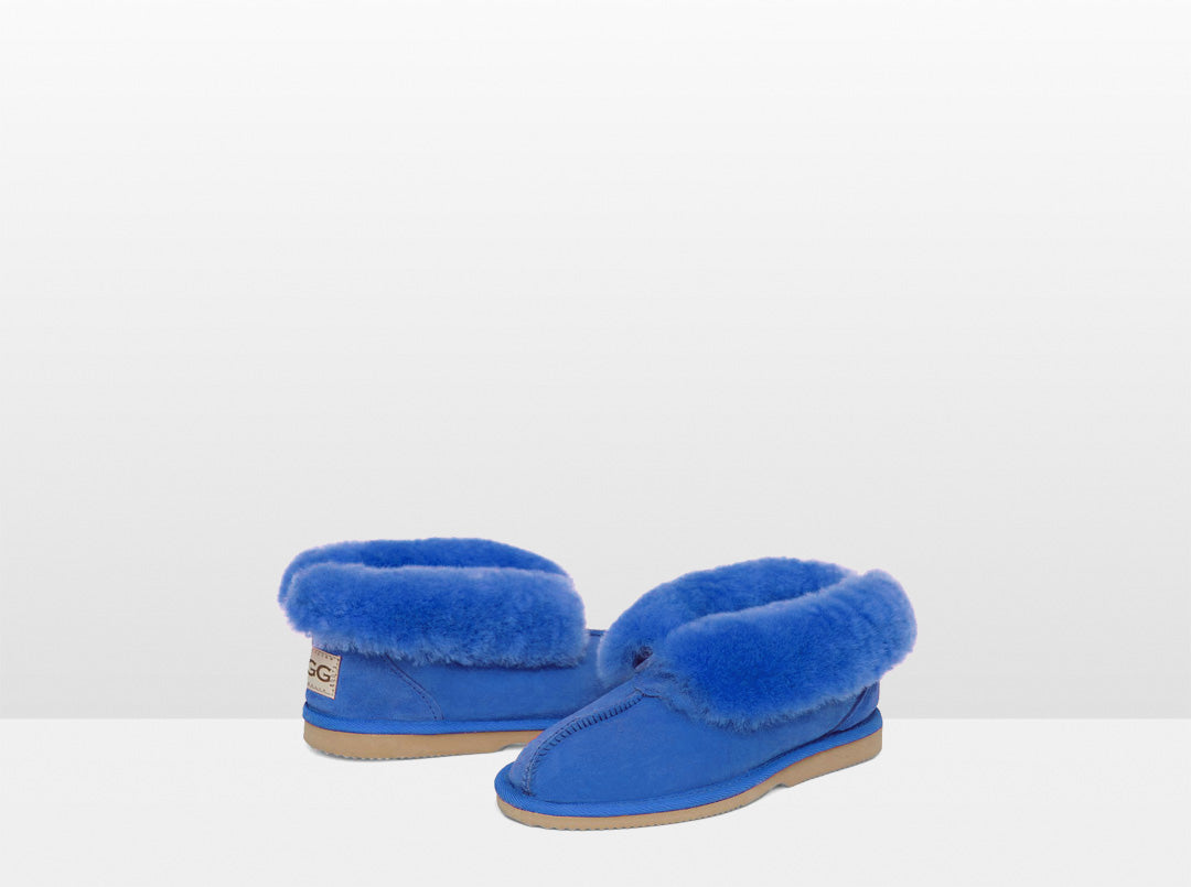 Adults Electric Blue Classic Ugg Style Slipper