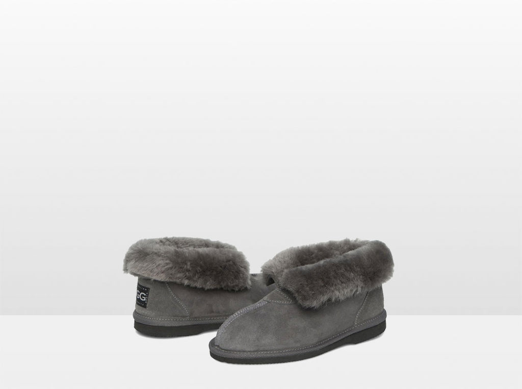 Adults Grey Classic Ugg Style Slippers