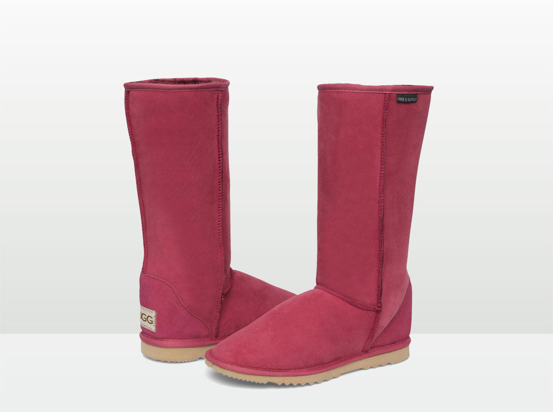 Adults Burgundy Ugg Boots