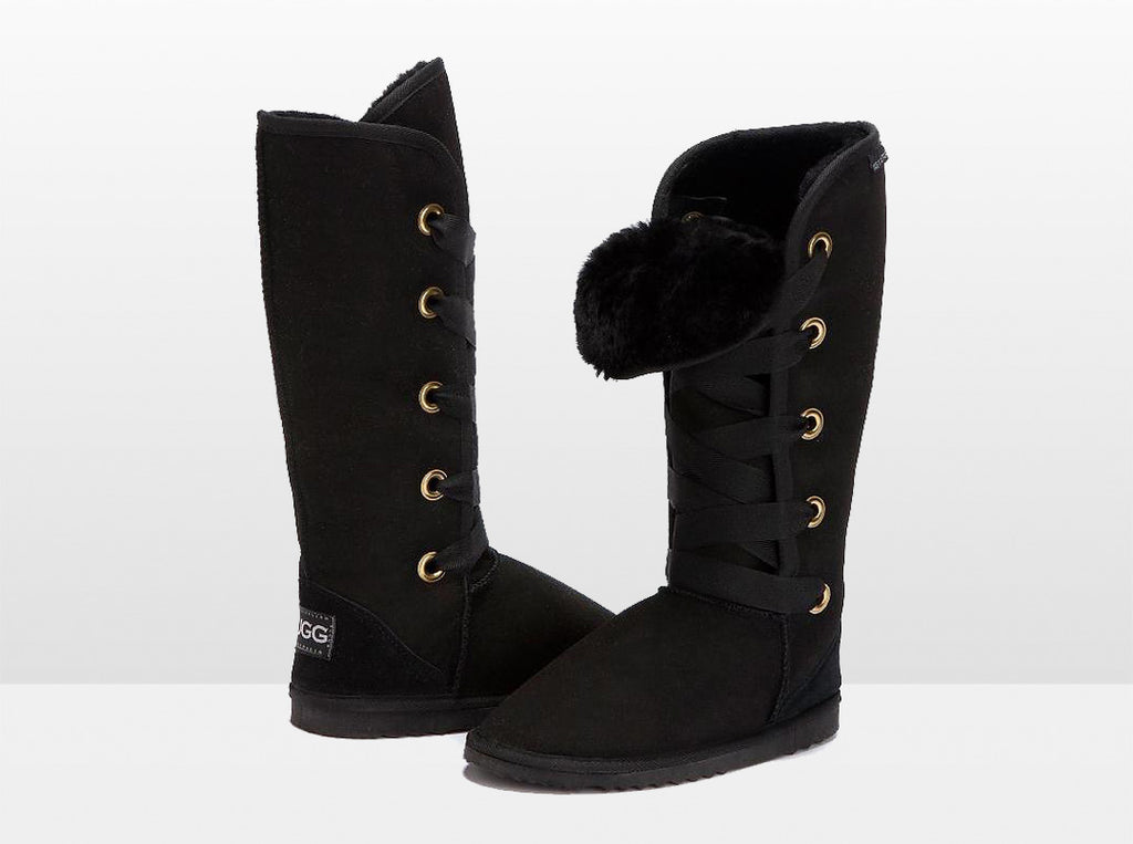 Adults Black Dance Tall Ugg Boot