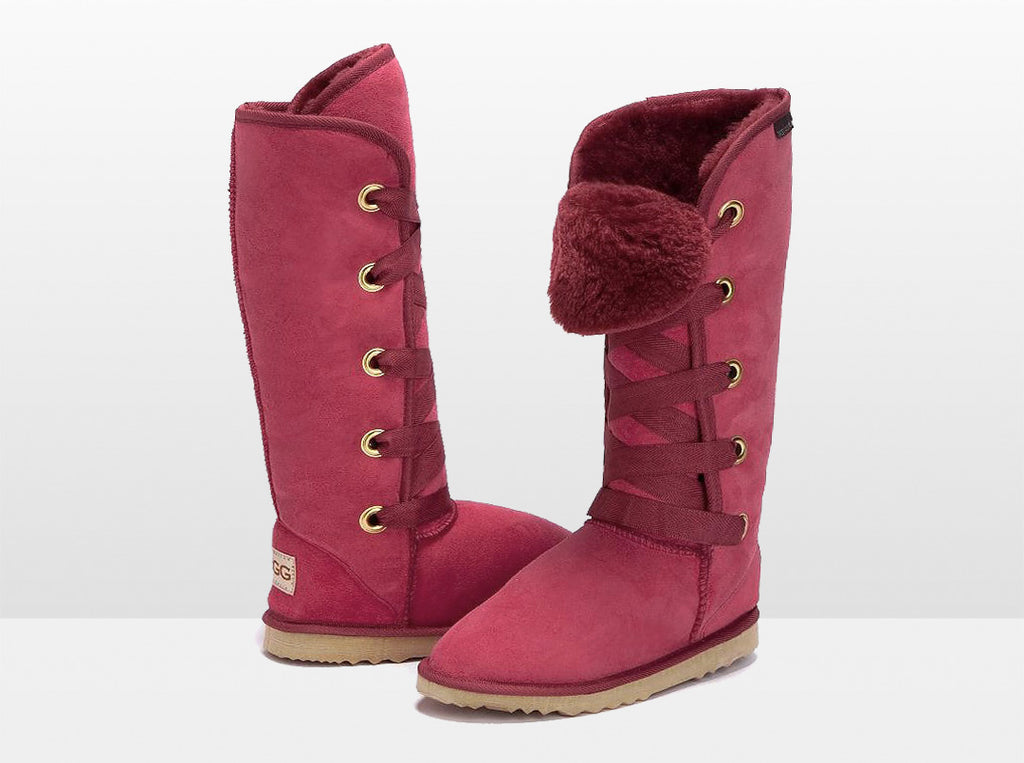 Adults Burgundy Dance Tall Ugg Boot
