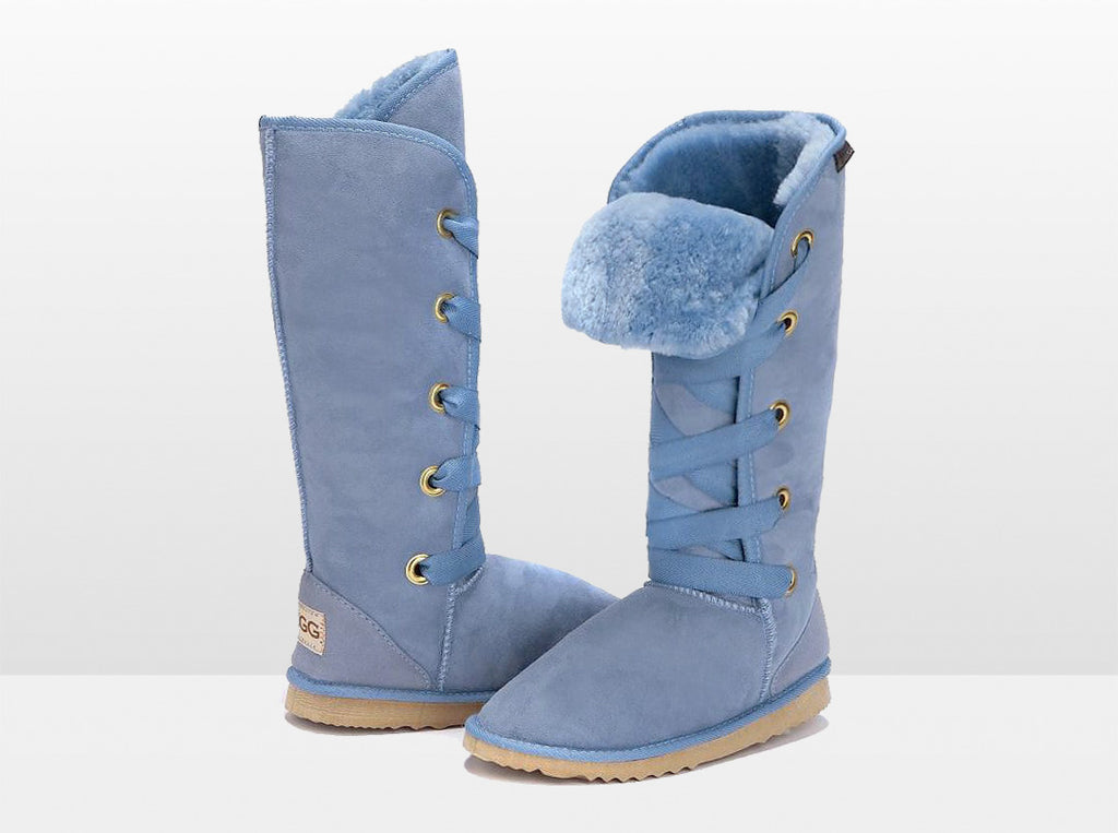 Adults Denim Blue Dance Tall Ugg Boot