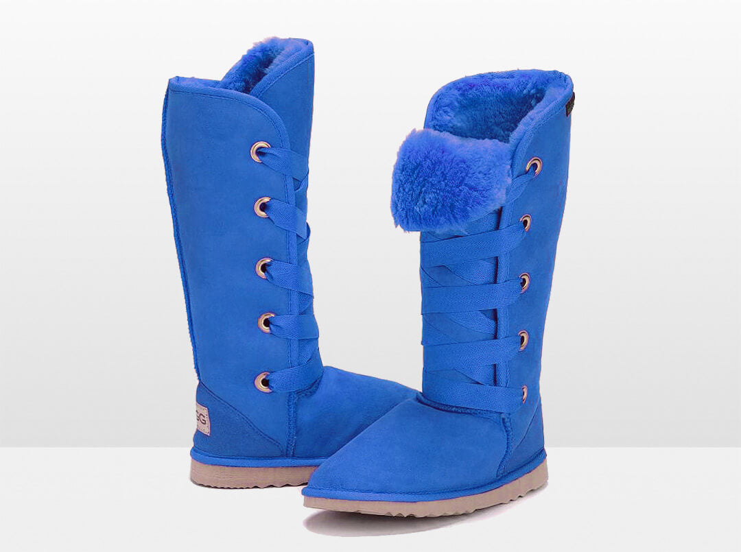 Adults Electric Blue Dance Tall Ugg Boot